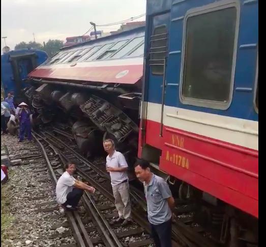 Xã hội - Tìm nguyên nhân liên tiếp tàu trượt bánh, nghiêng toa ở ga Yên Viên- Hà Nội