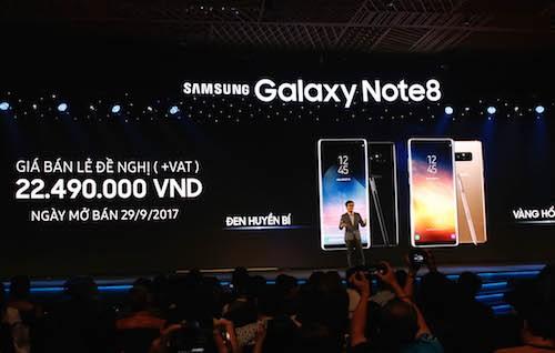 Công nghệ - Samsung chính thức ra mắt Galaxy Note 8 tại Việt Nam, giá 22,5 triệu đồng
