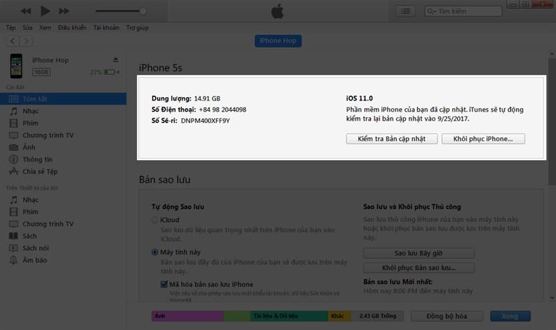 Công nghệ - Cách hạ cấp từ iOS 11 xuống iOS 10.3.3 nhanh nhất (Hình 3).