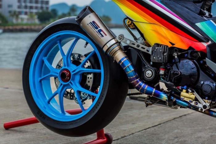 Yamaha Exciter 2009 biển độc, độ khủng của biker Hạ Long - Hình 12