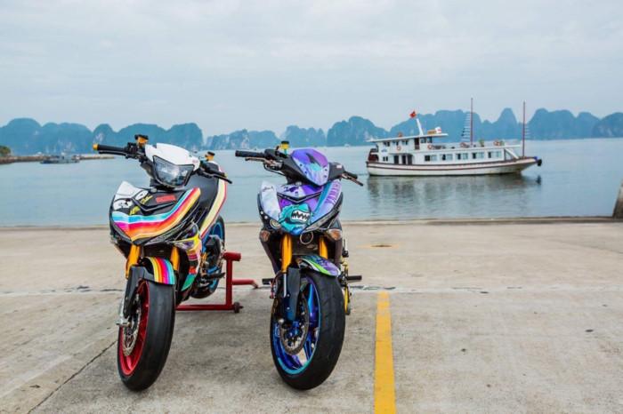 Yamaha Exciter 2009 biển độc, độ khủng của biker Hạ Long - Hình 15