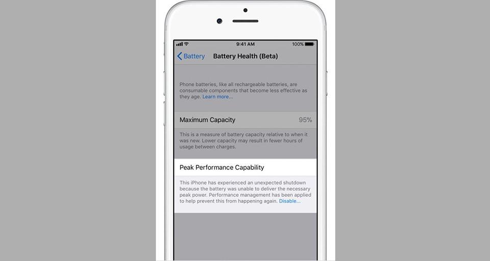 Thủ thuật - Tiện ích - Cách tắt tính năng làm chậm iPhone trên iOS 11.3 Beta 2 (Hình 4).