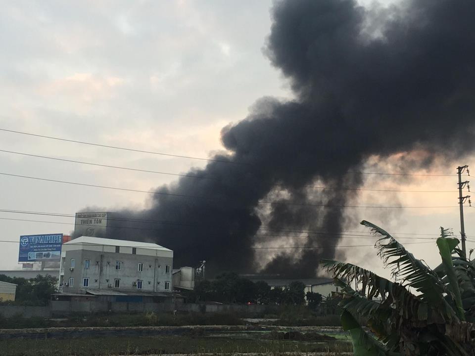 Tin nhanh - Hải Dương: Cháy lớn tại nhà máy thức ăn chăn nuôi (Hình 3).