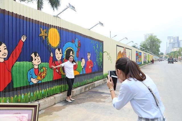 Đời sống - Cận cảnh con đường tranh 3D dài nhất Việt Nam (Hình 15).