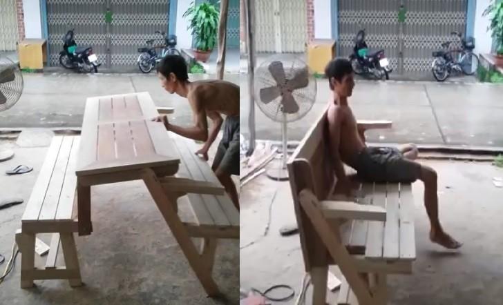 Mới- nóng - Clip: Bộ bàn ghế có khả năng 'biến hình' gây sốt dân mạng