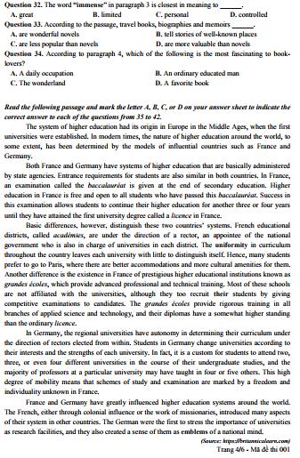 Giáo dục -  Đề thi minh họa tiếng Anh hay, có tính phân loại cao (Hình 4).