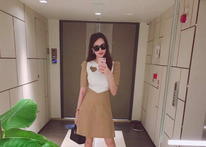 Cận cảnh nhan sắc 'vạn người mê' của Hoa hậu Đặng Thu Thảo sau 2 tháng sinh con 3