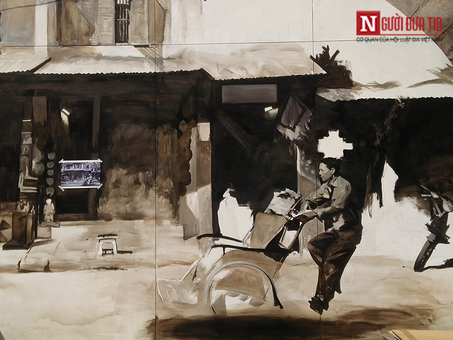 Văn hoá - Hà Nội: Hé lộ những bức bích họa đầu tiên trên phố Phùng Hưng (Hình 3).