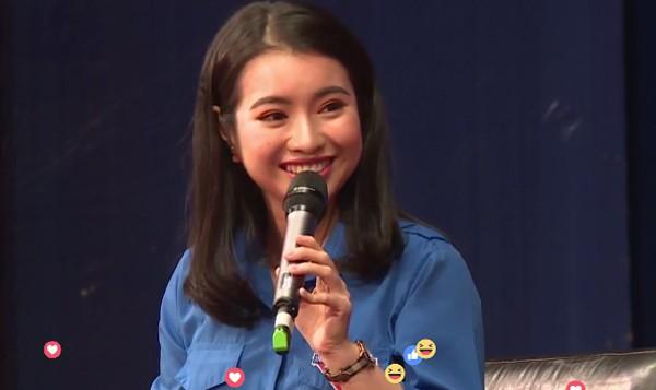 Cộng đồng mạng - Vẻ xinh đẹp của MC dẫn chương trình 'Đối thoại cùng Jack Ma'  (Hình 2).