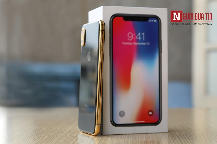 Iphone X mạ vàng đầu tiên tại Việt Nam gây sốt - Hình 1