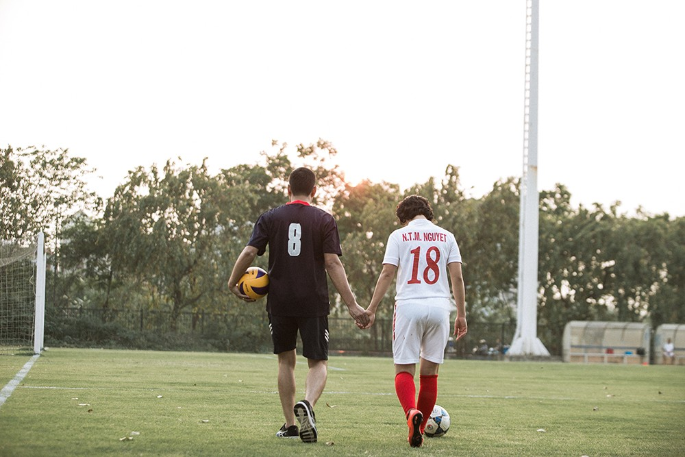 Thể thao - Bộ ảnh cưới cực chất của Quả bóng vàng Việt Nam 2015 gây sốt (Hình 4).