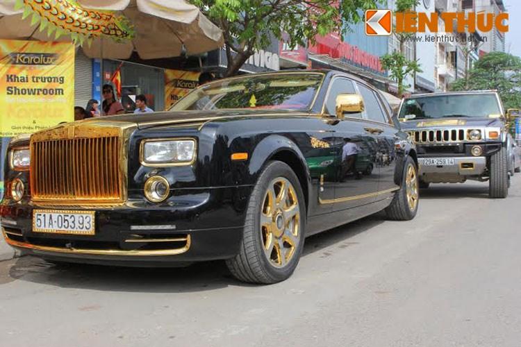 """Xe++ - Xe Rolls-Royce và Hummer tiền tỷ, """"dát vàng"""" tại Hà Nội"""