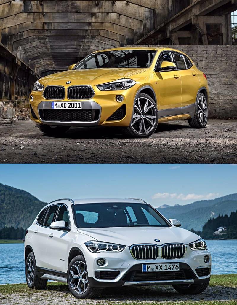 """Xe++ - So sánh sự thay đổi trên BMW X2 mới so với """"đàn anh"""" X1 (Hình 3)."""