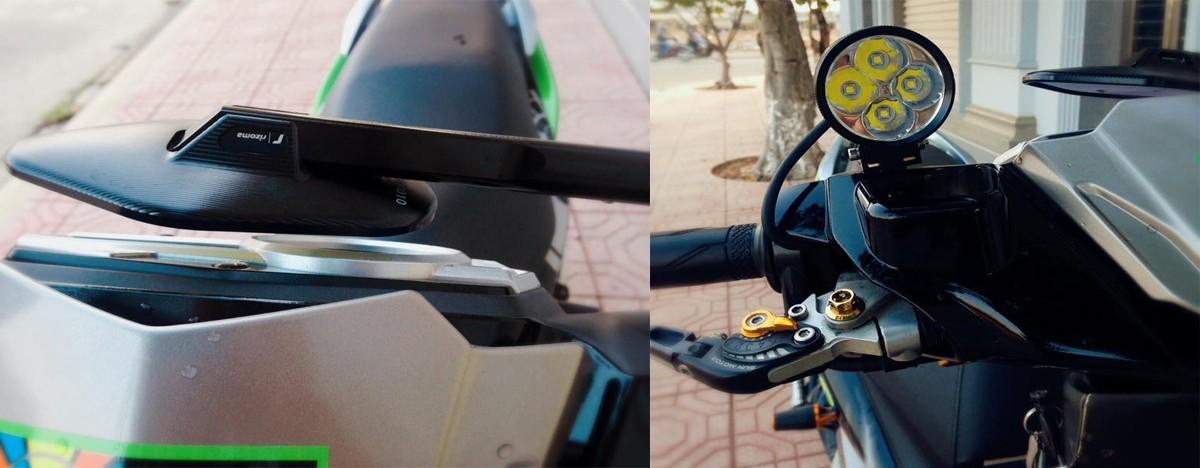 Thú chơi xe - Ngắm bản độ Nouvo toàn đồ hiệu đắt tiền của tay chơi Đồng Nai (Hình 3).
