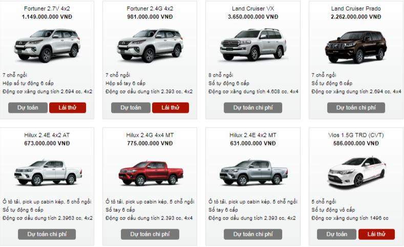 Bảng giá xe - Bảng giá ô tô Toyota tháng 2/2018: Nhiều mẫu xe giảm đến 60 triệu đồng  (Hình 3).