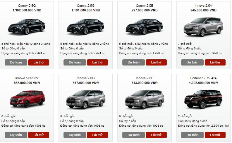 Bảng giá xe - Bảng giá ô tô Toyota tháng 2/2018: Nhiều mẫu xe giảm đến 60 triệu đồng  (Hình 2).