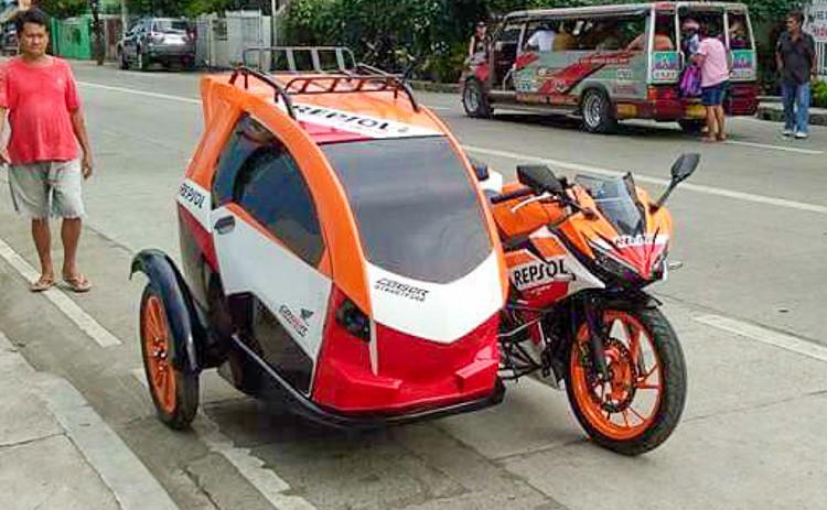 Thú chơi xe - Honda CBR150 Repsol độ phong cách Sidecar 3 bánh cực dị (Hình 5).