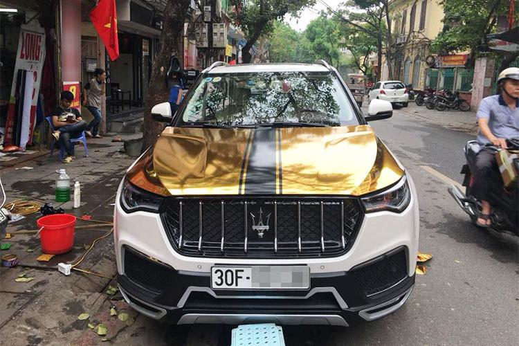 Thú chơi xe - 'Xe hợp chủng quốc' Zotye T700 lên đời Maserati Levante trên phố Hà thành