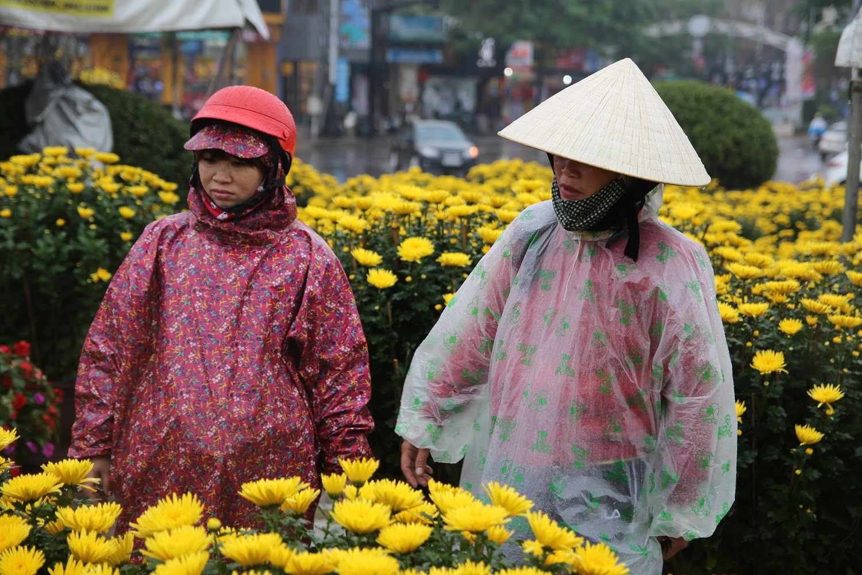 Người bán hoa Tết co rúm trong cơn giá lạnh cuối năm - Hình 9