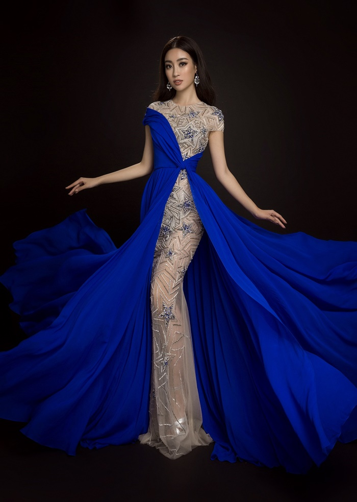 Ngôi sao - Những bộ cánh lộng lẫy của Mỹ Linh tại Hoa hậu Thế giới 2017 (Hình 9).