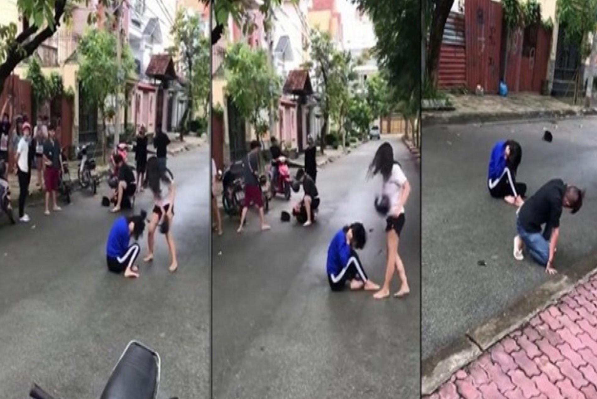 An ninh - Hình sự - Làm rõ các đối tượng trong clip dùng mũ bảo hiểm đánh người