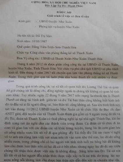 """Xã hội - Thanh Hóa: Nữ cán bộ lên tiếng sau khi để lộ """"ảnh nóng"""" cùng chủ tịch UBND xã (Hình 2)."""