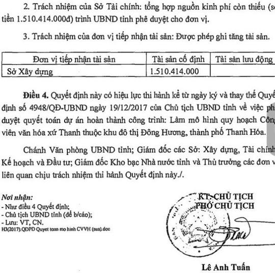 Xã hội - Thanh Hóa: Xuất hiện văn bản thay quyết định do ông Ngô Văn Tuấn đã ký (Hình 2).