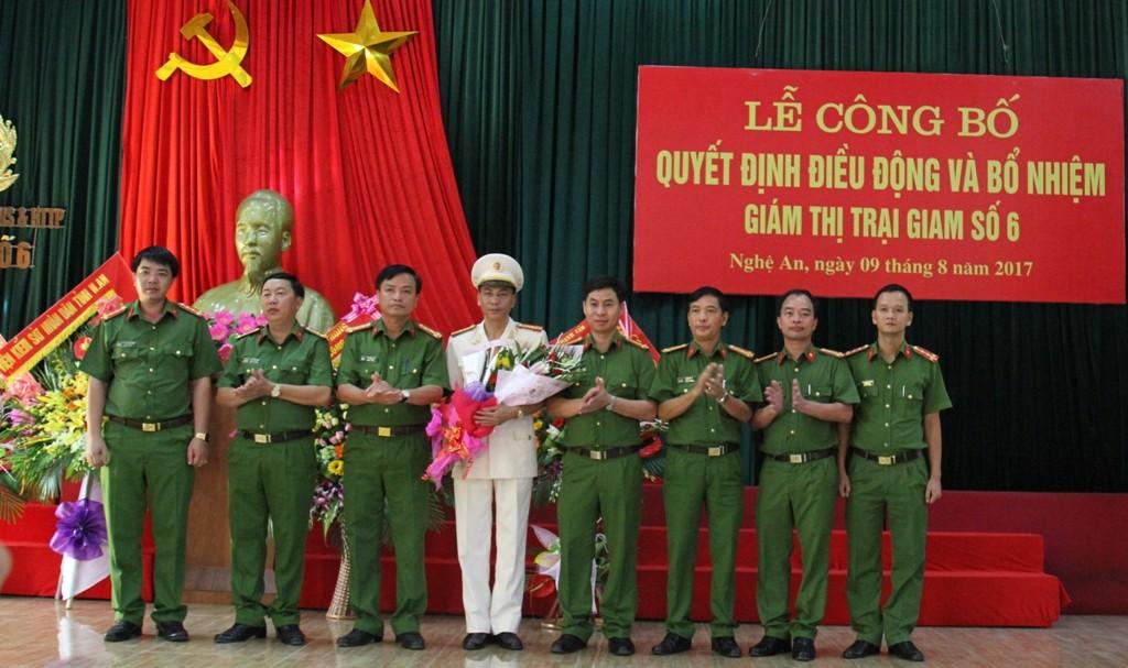 Chính trị - Xã hội - Nghệ An: Công bố quyết định bổ nhiệm Giám thị Trại giam số 6