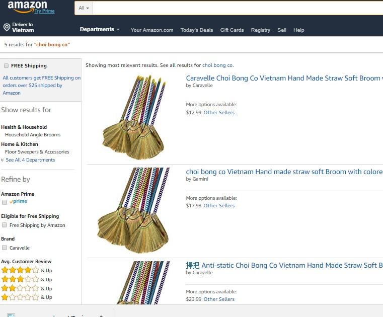 Tiêu dùng & Dư luận - Nón lá, rau răm, chổi chít Việt Nam được bán trên trang của người giàu nhất hành tinh