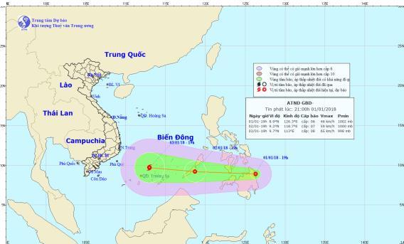 Tin nhanh - Tối nay, áp thấp nhiệt đới tiến vào Biển Đông