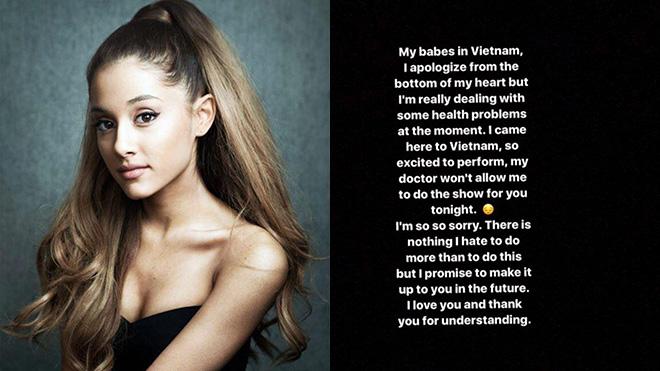 Giải trí - Ariana Grande hủy show tại Việt Nam: Tùy tiện, thiếu tôn trọng khán giả