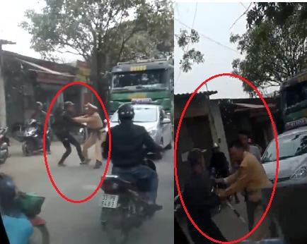 Xã hội - Hà Nội: CSGT bị 2 đối tượng xô đẩy, cản trở xử lý xe tải