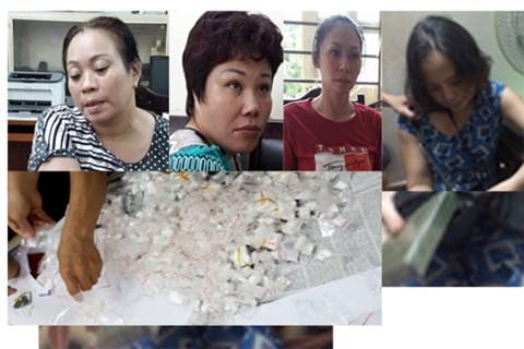 Pháp luật - Hà Nội: Bắt ổ nhóm toàn phụ nữ chuyên cung cấp ma túy cho các con nghiện