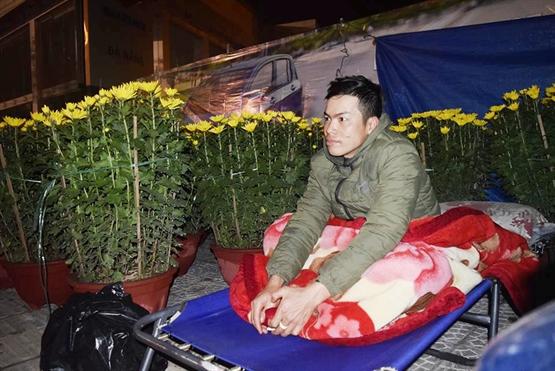 Cảnh màn trời chiếu đất trong giá lạnh của người bán hoa Tết ở Đà Nẵng - Hình 6
