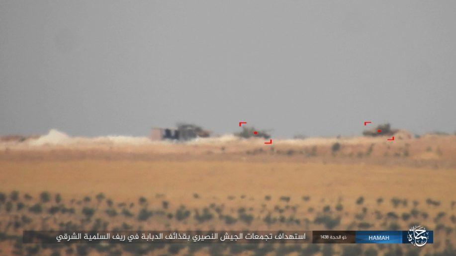 Thế giới - Dù bị tấn công vào đoàn tăng ở phía Đông Hama, SAA vẫn tiêu diệt hàng trăm kẻ khủng bố (Hình 8).