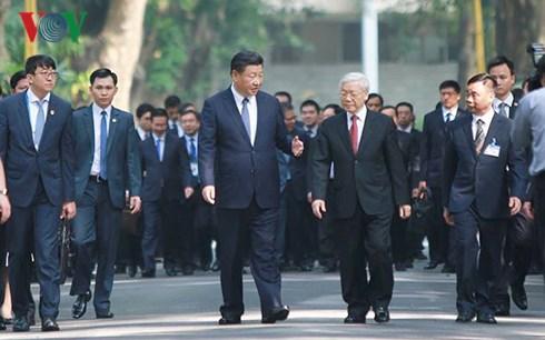 Chính trị - Tổng bí thư Nguyễn Phú Trọng dự tiệc trà cùng Chủ tịch Trung Quốc Tập Cận Bình