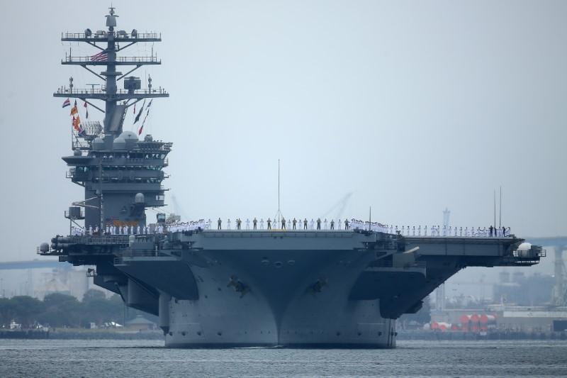 Quân sự - Tàu sân bay Mỹ diễn tập quân sự khi Tổng thống Trump thăm châu Á