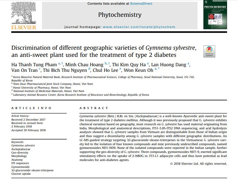 Truyền thông - Công bố 9 chất mới điều trị tiểu đường từ dây thìa canh Việt Nam
