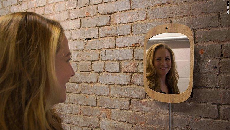 Sản phẩm - Độc đáo gương thần kỳ chỉ phản chiếu khi bạn mỉm cười (Hình 2).