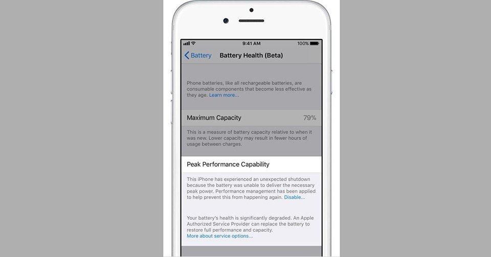 Thủ thuật - Tiện ích - Cách tắt tính năng làm chậm iPhone trên iOS 11.3 Beta 2 (Hình 5).