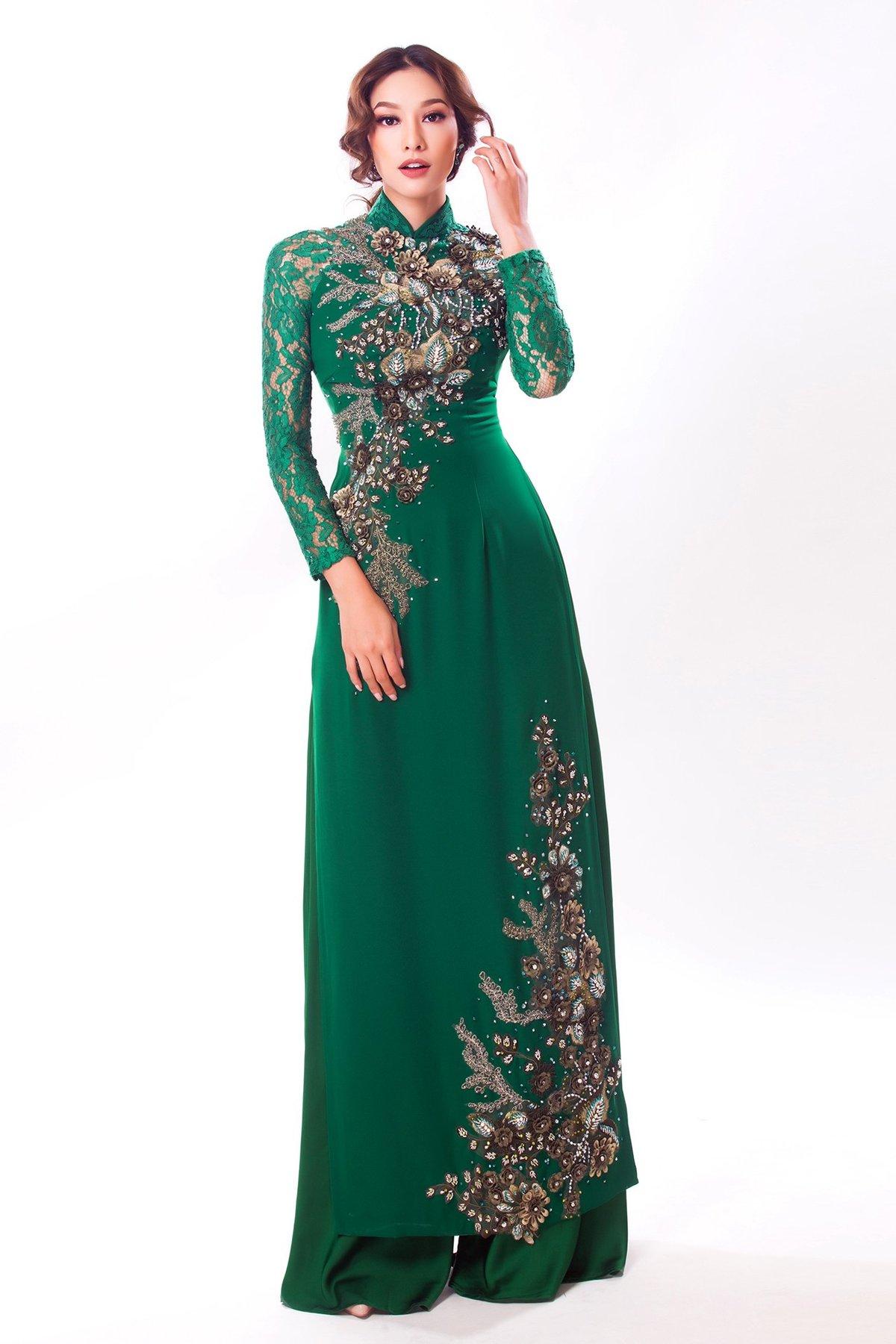 Ngôi sao - Lilly Nguyễn đẹp quý phái trong áo dài cưới truyền thống (Hình 2).