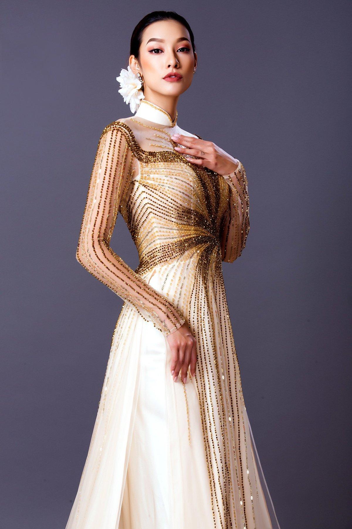 Ngôi sao - Lilly Nguyễn đẹp quý phái trong áo dài cưới truyền thống (Hình 5).