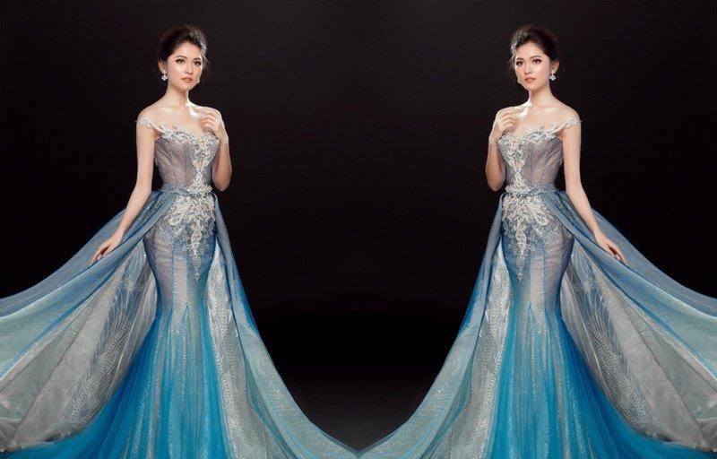 Ngôi sao - Bị thủy đậu, Á hậu Thùy Dung vẫn đẹp lộng lẫy với đầm dạ hội