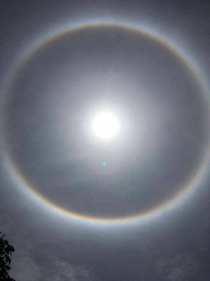 Video - Clip: Xuất hiện vầng hào quang hiếm thấy bao quanh mặt trời ở Yên Bái (Hình 4).
