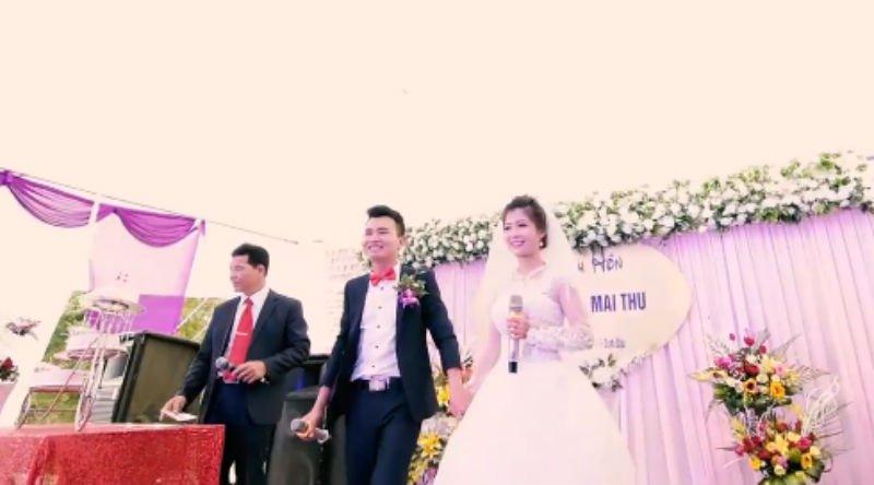 Cộng đồng mạng - Cô dâu, chú rể Yên Bái hát hay như ca sĩ trong đám cưới