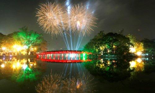 Tin nhanh - Hà Nội bắn pháo hoa dịp Tết Nguyên đán Mậu Tuất 2018