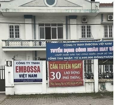 Điểm nóng - Hải Dương: Xử phạt công ty TNHH Embossa Việt Nam gây ô nhiễm môi trường