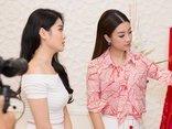 Giải trí - Hoa hậu Mỹ Linh khoe sắc cùng NTK Linh Bùi