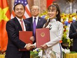 Tài chính - Ngân hàng - Doanh nghiệp Việt - Mỹ ký loạt thỏa thuận tỷ đô; Nhiều ngân hàng báo lãi đậm