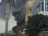 Tin nhanh - Hải Dương: Cháy lớn tại nhà máy thức ăn chăn nuôi